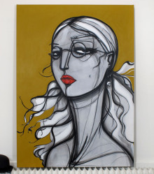 Original Painting. 96 cm x 143 cm. Acrylic on canvas. 2012.