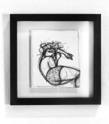 Original drawn, framed. 20,4 cm x 20,4 cm. Ink on paper. 2013. Available in the shop.