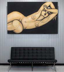 Original Painting, close up. 215 cm x 135 cm. Acrylic on canvas. 2013.