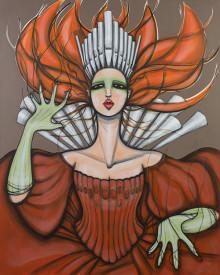 Original Painting. 160 cm x 200 cm. Acrylic on canvas. Commissioned work Studio Acusticum. 2012.
