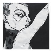 The ODD BIRD Serie. Acrylics on canvas. 99x100cm. 2015.