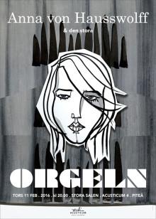"Commissioned concert poster serie for Studio Acusticum Piteå. ""Anna von Hausswolff"