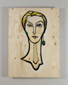 60 x 82 cm. Acrylics on plywood. 2016.