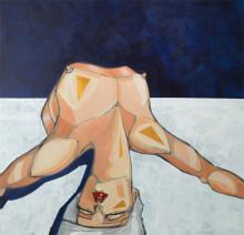 A Body is a Tool serie. 140 x 135 cm. Acrylics on canvas. 2016