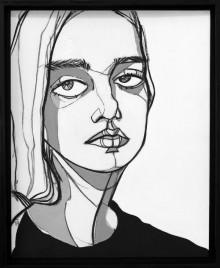 Lovisa. 36 x 44 cm. Acrylics on canvas panel. 2016.